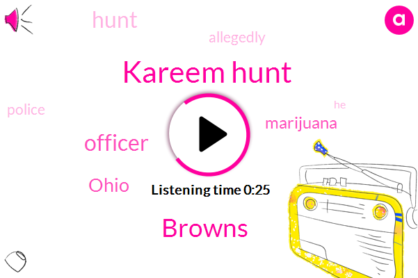Listen: Browns RB Kareem Hunt says would have failed drug test during traffic stop