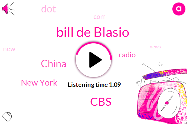China,Bill De Blasio,New York,CBS,Wcbs