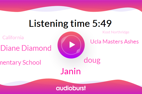 Janin,Doug,Kost Northridge,Elementary School,Diane Diamond,Ucla Masters Ashes,California