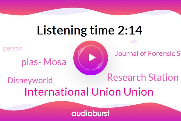 Plas- Mosa,International Union Union,Journal Of Forensic Science,Disneyworld,Research Station