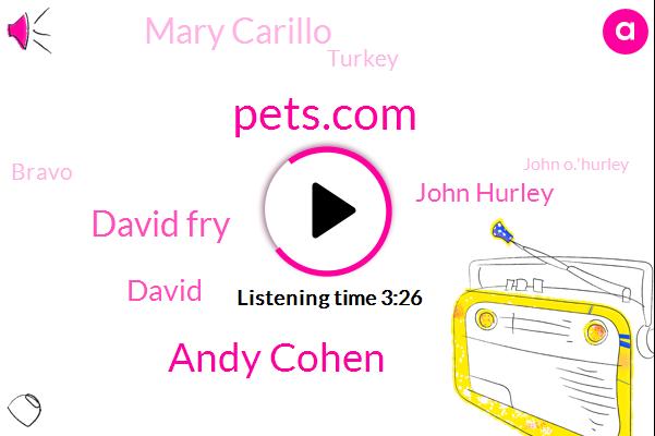 Pets.Com,Andy Cohen,David Fry,David,John Hurley,Mary Carillo,Turkey,Bravo,John O.'Hurley,Rena,NBC,Miami,Corinne,Fifty Thousand Dollars,Five Minutes,Ten Minutes,One Dollar