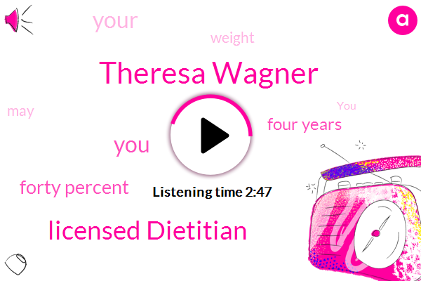 Theresa Wagner,Licensed Dietitian,Forty Percent,Four Years
