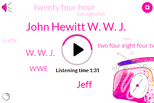 John Hewitt W. W. J.,Jeff,W. W. J.,WWE,Two Four Eight Four Two Three Six W,Twenty Four Hour,Ten Minutes