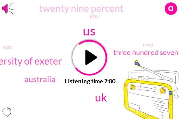 United States,UK,University Of Exeter,Australia,Three Hundred Seven Degrees Fahrenheit,Twenty Nine Percent
