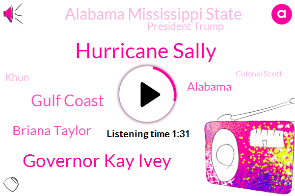 Hurricane Sally,Governor Kay Ivey,Gulf Coast,Briana Taylor,Alabama,Alabama Mississippi State,President Trump,Khun,Colonel Scott,Louisville,White House,Fox News,Attorney,America