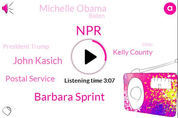 NPR,Barbara Sprint,John Kasich,Postal Service,Kelly County,Michelle Obama,Biden,President Trump,Ohio,Senator Bernie Sanders,Windsor Johnston,House Oversight Committee,Brown.,Cacic,Home Depot,Vermont,Washington