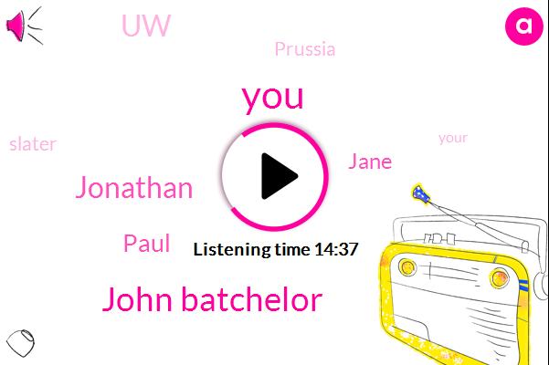 John Batchelor,Jonathan,Paul,Jane,UW,Prussia,Slater,Colin,Andrews,Russia