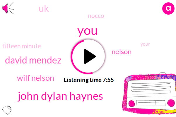 John Dylan Haynes,David Mendez,Wilf Nelson,Nelson,UK,Nocco,Fifteen Minute,Paul,Rave,Wednesday Afternoons,Harrison Street Market,One Billion Connections,One Way,Each Field,England,University Of Birmingham,Thirty Forty Hours A Week,Rome,ONE