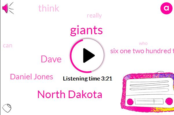 Giants,North Dakota,Dave,Daniel Jones,Six One Two Hundred Twenty Four Pound