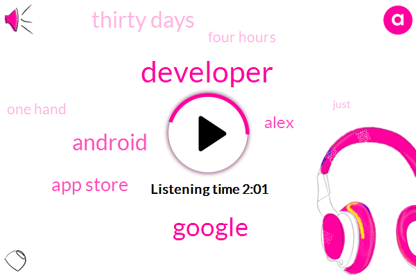 Developer,Google,App Store,Alex,Android,Thirty Days,Four Hours,One Hand