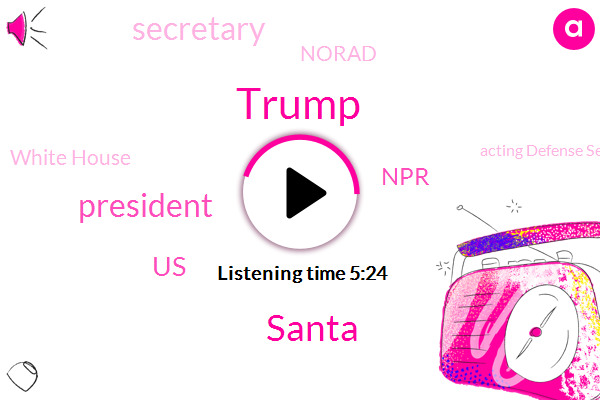 Donald Trump,Santa,President Trump,United States,NPR,Secretary,Norad,White House,Acting Defense Secretary,Steven Mnuchin,Syria,Acting Attorney General,Congress,Washington