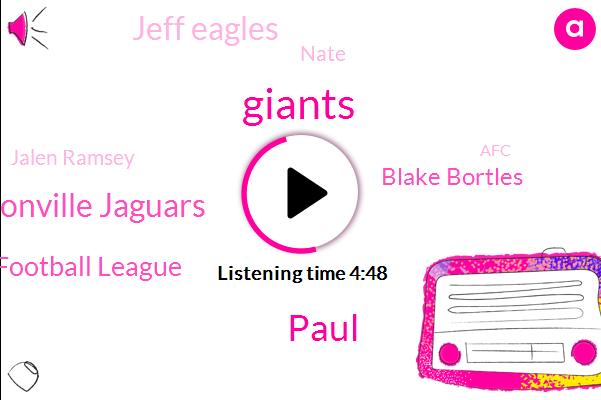 Giants,Jacksonville Jaguars,National Football League,Paul,Blake Bortles,Jeff Eagles,Nate,Jalen Ramsey,AFC,Metlife Stadium,Brandon Jacobs,Leonard Fournette,RON,Kerry,Aj Bui,Denver Broncos,Odell Beckham