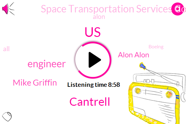 United States,Cantrell,Engineer,Mike Griffin,Alon Alon,Space Transportation Services Company,Alon,Boeing,Paypal,Equity Fund,Physicist,CFO,Iraq,Russia,Thompson