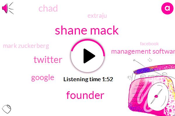 Shane Mack,Founder,Twitter,Google,Management Software,Extraju,Chad,Mark Zuckerberg,Facebook,Eighty Percent,Fifty Percent,Twelve Year