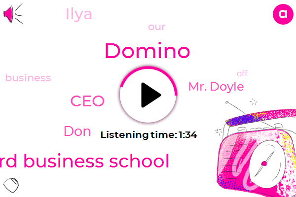 Domino,Stanford Business School,JIM,CEO,DON,Mr. Doyle,Ilya