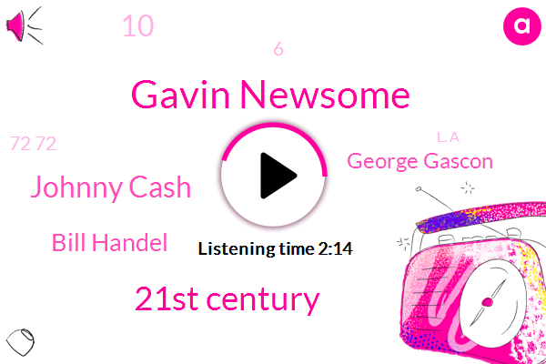 Gavin Newsome,21St Century,Johnny Cash,Bill Handel,George Gascon,10,6,72 72,L. A,County