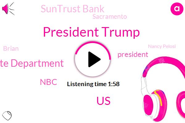 President Trump,United States,Us State Department,NBC,Suntrust Bank,Sacramento,Nancy Pelosi,Brian,Nicolas Maduro,Carl Hoglund,Seabourn Brian,Congress,Widodo,Intern,CEO,Madura