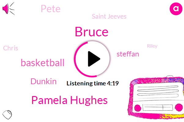 Bruce,Pamela Hughes,Basketball,Dunkin,Steffan,Pete,Saint Jeeves,Chris,Riley,Five Year,Four Five Years