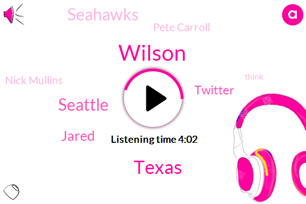 Wilson,Texas,Seattle,Jared,Twitter,Seahawks,Pete Carroll,Nick Mullins,Tampa Bay,Nick Molins,Carol,Dr Dre,Netflix,Carolina Panthers,Brown,Oklahoma