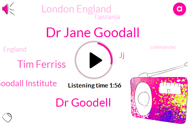 Dr Jane Goodall,Dr Goodell,Tim Ferriss,Jane Goodall Institute,JJ,London England,Tanzania,England,Commander,Africa