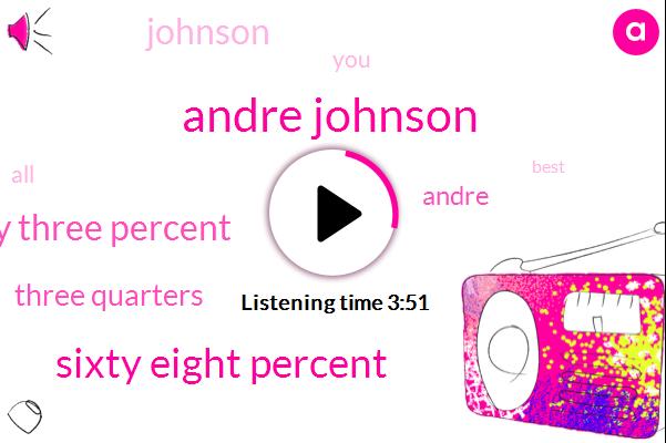 Andre Johnson,Sixty Eight Percent,Sixty Three Percent,Three Quarters