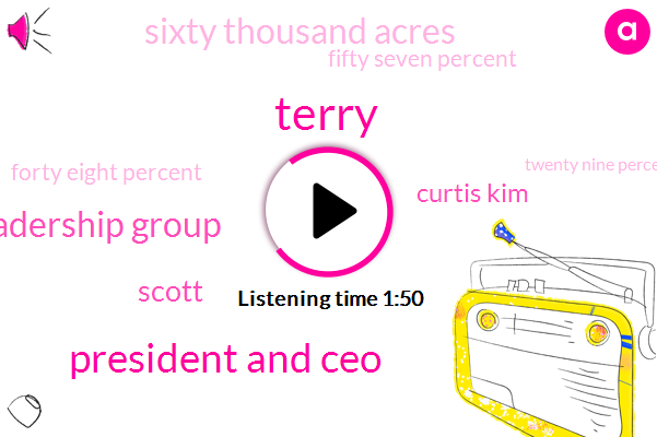 Terry,President And Ceo,Silicon Valley Leadership Group,Scott,Curtis Kim,Sixty Thousand Acres,Fifty Seven Percent,Forty Eight Percent,Twenty Nine Percent,Eighty Degrees,Four Percent