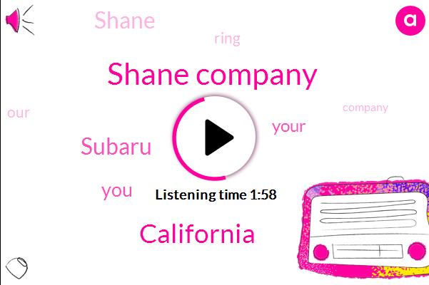 Shane Company,California,Subaru