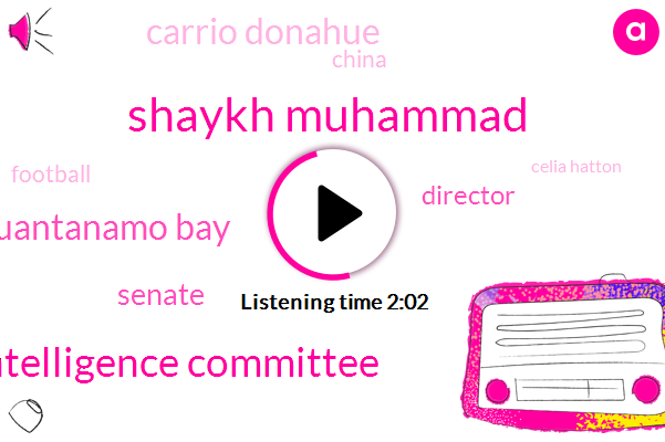 Shaykh Muhammad,Senate Intelligence Committee,Guantanamo Bay,Senate,Director,Carrio Donahue,China,Football,Celia Hatton,Senator Warner,CIA,Washington,Beijing