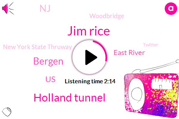 Jim Rice,Holland Tunnel,Bergen,United States,East River,NJ,Woodbridge,New York State Thruway,Twitter,Matt Randy,Central Park,Mavis,Forecaster