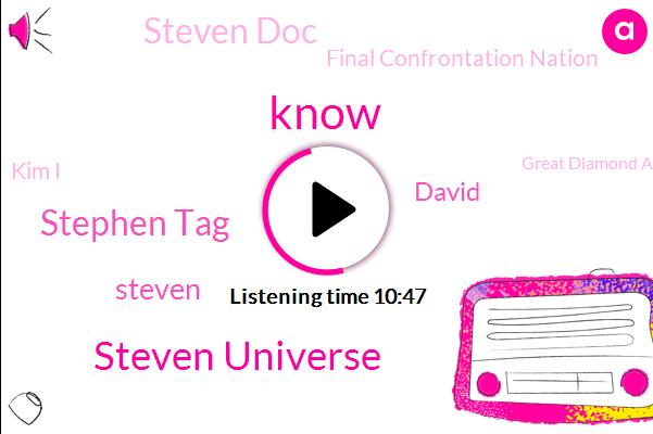 Steven Universe,Stephen Tag,Steven,David,Steven Doc,Final Confrontation Nation,Kim I,Great Diamond Authority,Hoke,Greg,Jean,Steve,TOM,Shipton