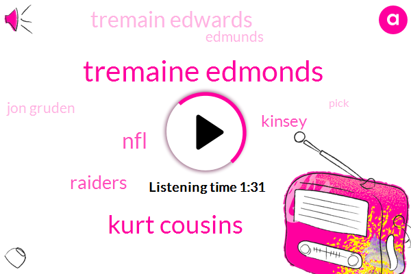 Tremaine Edmonds,Kurt Cousins,NFL,Raiders,Kinsey,Tremain Edwards,Edmunds,Jon Gruden