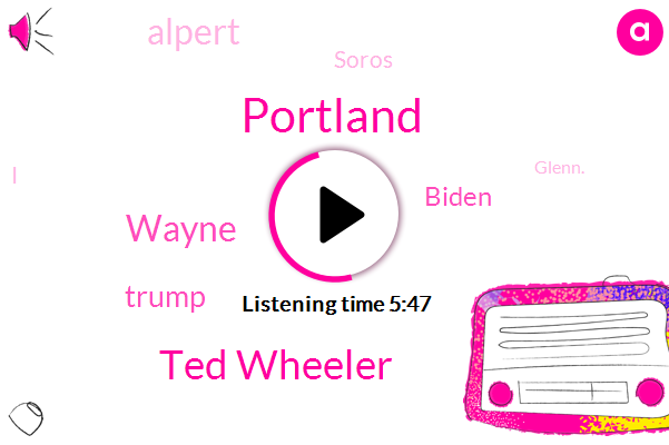 Portland,Ted Wheeler,Wayne,Donald Trump,Biden,Alpert,Soros,Glenn.,President Trump,Rugby,Glenn,Kansas,York Post,Goldie,Elijah Schaefer,JOE