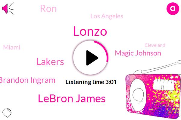Lonzo,Lebron James,Lakers,Brandon Ingram,Magic Johnson,RON,Los Angeles,Miami,Cleveland,Seven Inches,Six Feet