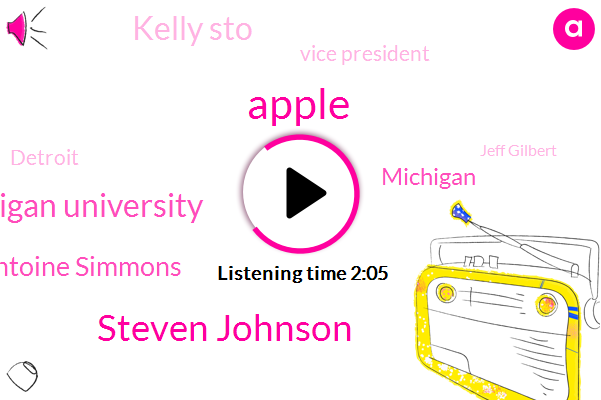 Steven Johnson,Central Michigan University,Apple,Antoine Simmons,Michigan,Kelly Sto,Vice President,Detroit,Jeff Gilbert,Google,Ferris,Robbery,Stow,Forty Five Years,Thirty Years