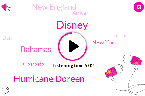 Hurricane Doreen,Disney,Bahamas,Canada,New York,New England,Africa,DAN,Puerto,Atlantic,Two Weeks