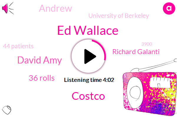 Ed Wallace,Costco,David Amy,36 Rolls,Richard Galanti,Andrew,University Of Berkeley,44 Patients,3900,Soviet Union,Today,Price Club,The Price Club,Actuary Actuary,324,This Morning,Many Years Ago,CFO,73 87,Rum Cove