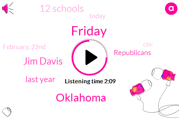 Friday,Oklahoma,Jim Davis,Last Year,Republicans,12 Schools,Today,February, 22Nd,CDC,19 Vaccine,Governor,Jen Psaki,November,House,More Than 60 People,Five Days A Week,Over 100 Vehicles,White House,Kevin,State Health Department