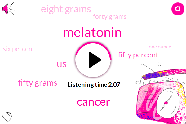 Melatonin,Cancer,United States,Fifty Grams,Fifty Percent,Eight Grams,Forty Grams,Six Percent,One Ounce,Ten Grams,Milk
