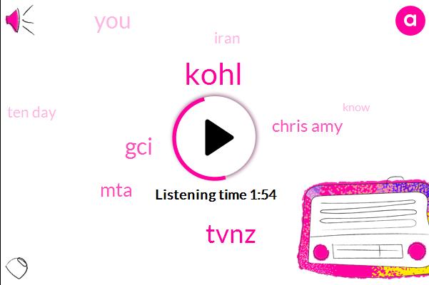 Kohl,Tvnz,GCI,MTA,Chris Amy,Iran,Ten Day