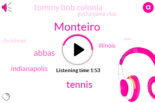 Monteiro,Tennis,Abbas,Indianapolis,Illinois,Tommy Bob Colonia,Gotha Gama Club,Christmas,Asia,Milton,New York City,Sixteen Ounce,Nine Years,One Second,Twenty Second,Eight Years,16Ounce