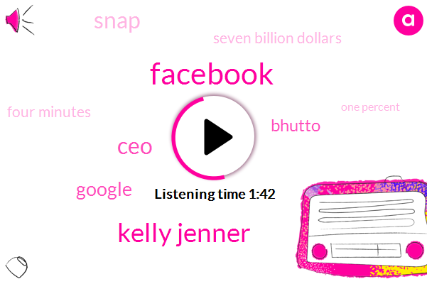 Facebook,Kelly Jenner,CEO,Google,Bhutto,Snap,Seven Billion Dollars,Four Minutes,One Percent,Two Percent