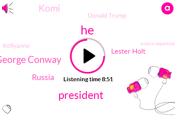 George Conway,Russia,Lester Holt,President Trump,Komi,Donald Trump,Justice Department,Kellyanne,NBC,Republican Party,Department Of Justice Civil Division,TOM,Australia,White House,Clinton,Rush Limbaugh,Sean Hannity