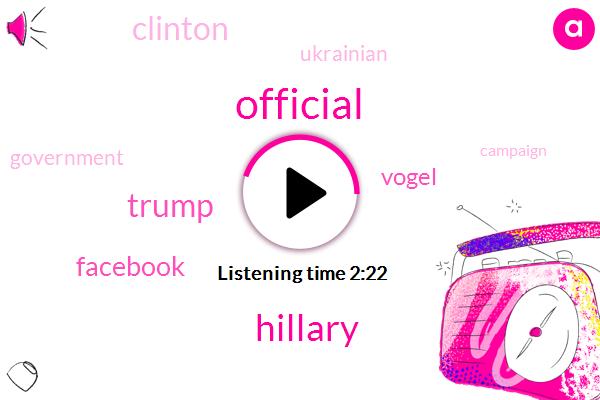 Official,Donald Trump,Facebook,Hillary,Vogel,Clinton