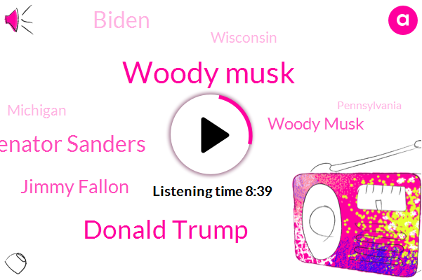 Woody Musk,Donald Trump,Bernie Senator Sanders,Jimmy Fallon,Biden,Wisconsin,Michigan,Pennsylvania,Mark Blazer,Dimitrius Stanley,Josh,President Trump,Fraud,Vermont,Florida