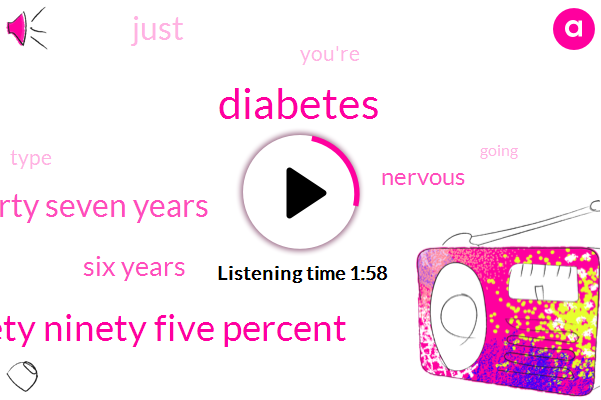 Diabetes,Ninety Ninety Five Percent,Forty Seven Years,Six Years