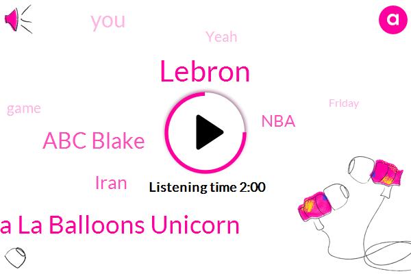 Lebron,La La Balloons Unicorn,Abc Blake,Iran,NBA,DAN