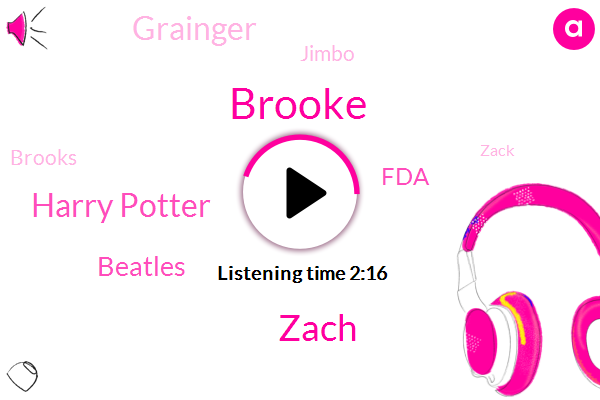 Brooke,Harry Potter,Zach,Beatles,FDA,Grainger,Jimbo,Brooks,Zack,Jose,Stanford Federal Drug Administration,China,Thirty Seconds