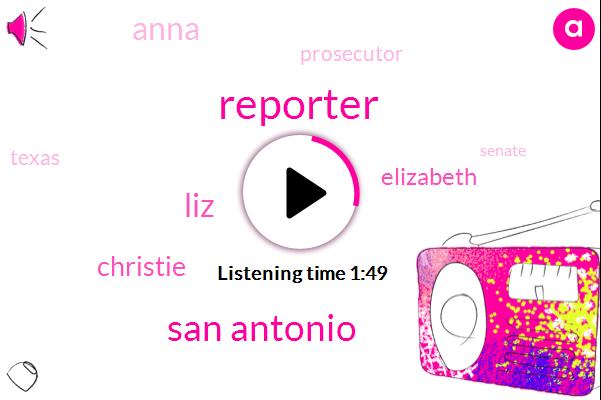 Reporter,San Antonio,LIZ,Christie,Elizabeth,Anna,Prosecutor,Texas,Senate