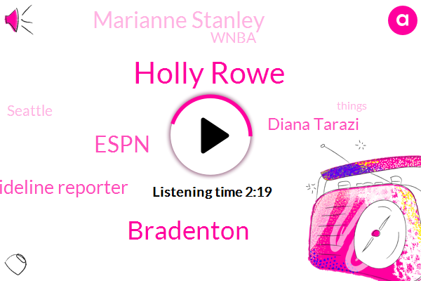 Holly Rowe,Bradenton,Espn,Sideline Reporter,Diana Tarazi,Marianne Stanley,Wnba,Seattle