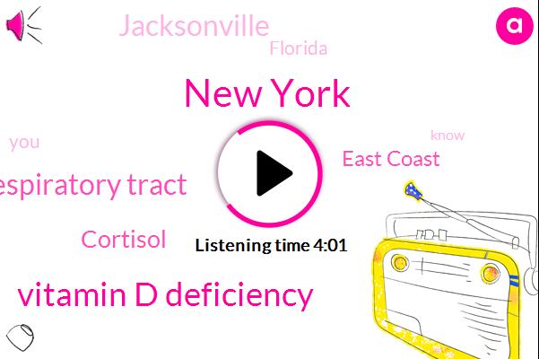 New York,Vitamin D Deficiency,Respiratory Tract,Cortisol,East Coast,Jacksonville,Florida